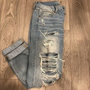 American eagle tom girl cropped jeans